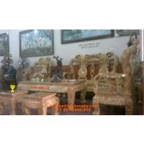 Bàn ghế gỗ Nu nghiến Kiểu Minh quốc NG12