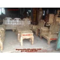 Bộ bàn ghế đẹp Gỗ nu nghiến Mẫu như ý voi NYL02