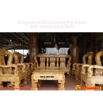 Bộ bàn ghế gỗ nu nghiến Mẫu Quốc Triện vai 16 QTN03