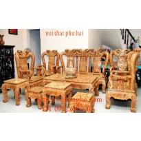 Bộ bàn ghế gỗ nu nghiến kiểu Minh Quốc NG4