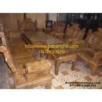 Bộ bàn ghế gỗ nu nghiến Âu Á Tay hộp NG2