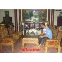 Bộ bàn ghế Âu Á Tay hộp gỗ Nu Nghiến NG.AU2
