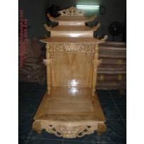Bàn thờ thần tài (ổng địa) gỗ Pơ Mu TT1