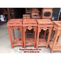 Đôn kệ trang trí, Đôn gỗ mặt vuông D11