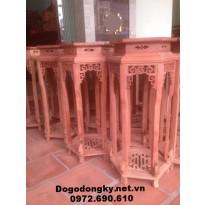 Đôn gỗ kê đồ phòng khách, Đôn lục giác D13