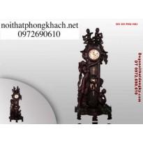 Đồng hồ cây gỗ trắc kiểu thiên thần ĐHT1
