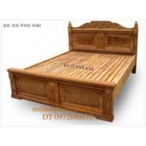 Giường ngủ gỗ gụ đẹp - Giường chữ X GN12