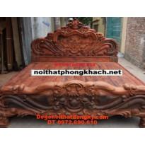 Giường ngủ gỗ hương Kiểu hoa hồng GN20