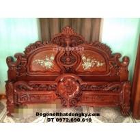 Giường ngủ gỗ hương, kiểu dáng sang trọng GN-64