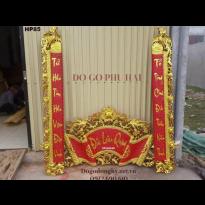 Cuốn Thư Câu Đối Sơn Son Thếp Vàng