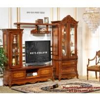 Tủ bày đồ gỗ gụ, Tủ kệ Tivi đẹp KTV34