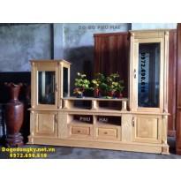 Tủ để tivi, Tủ trưng bày tivi gỗ tự nhiên KTV64