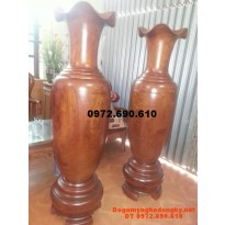 Quà biếu, Đôi Lộc Bình gỗ hương 160cm LB36