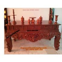 Sập thờ gỗ gụ Bàn thờ kiểu tứ linh ST51