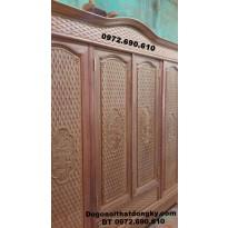Tủ quần áo gỗ hương đẹp và hiện đại dogonoithatsongky.com TA.14