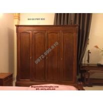 Tủ để quần áo gỗ hương 4 Buồng 4 Cánh TA6