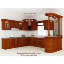 Thiết kế và Lắp đặt Tủ bếp đẹp gỗ giáng hương TB2