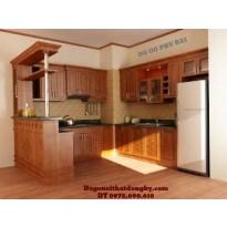 Chuyên Thi công và Lắp đặt Tủ bếp đẹp gỗ Camxe TB4