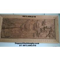 Tranh chạm khắc gỗ thuận buồm xuôi gió Tranh13