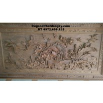 Tranh điêu khắc gỗ mỹ nghệ Tùng Hạc diên niên T26