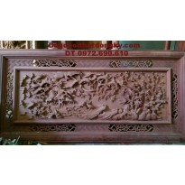 Tranh Bách điểu, Tranh khắc gỗ mỹ nghệ T29