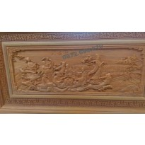 Tranh điêu khắc gỗ mỹ nghệ Bát tiên quá hải T33