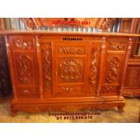 Tủ thờ gỗ hương triên Tứ linh KT Lỗ ban TT13