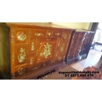 Tủ thờ khảm ốc gỗ gụ kích thước lỗ ban TT.36