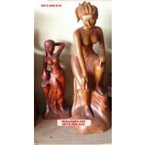 Đồ gỗ mỹ nghệ,Tượng thiếu nữ TN05